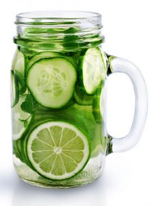 water with cucumber